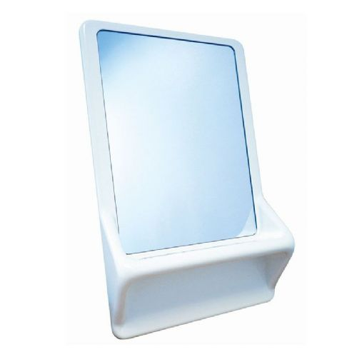 DVS High Security Mirror with Moulded Frame and Shelf